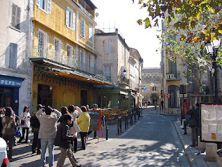 """Cafe Terrace Arles"". Licensed under Public Domain via Wikimedia Commons - http://commons.wikimedia.org/wiki/File:Cafe_Terrace_Arles.jpg#/media/File:Cafe_Terrace_Arles.jpg"