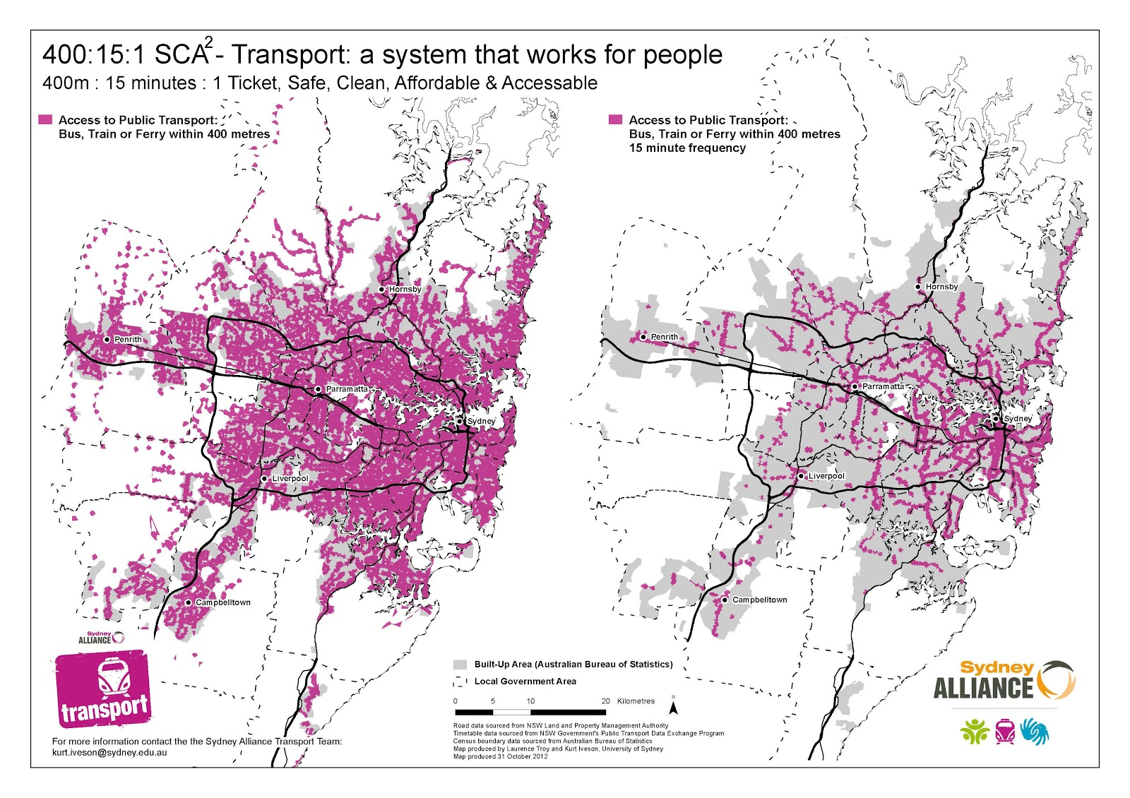 Cities and Citizenship Mapping public transport accessibility in Sydney