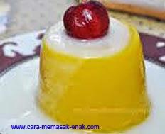 resep praktis dan mudah membuat (memasak) kue puding labu kuning spesial enak, legit, lezat