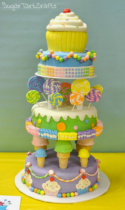 "The ""Sweet"" 16 Candy Shop Cake"