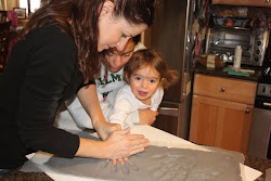 Sophia loves doing her handprint