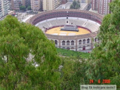 Plaza de Toros vista do Castillo Gibralfaro