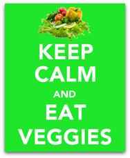 Peas and Crayons Keep Calm and Eat Your Veggies