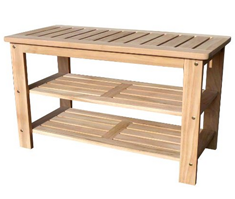D-ART COLLECTION Teak Outdoor Shoe Bench