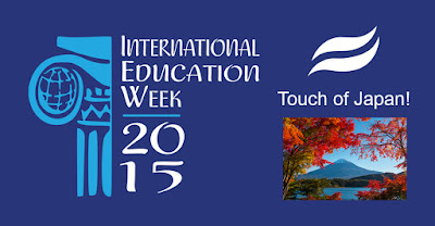 banner for Internation Ed Week: Image from Japan.  Text: Touch of Japan