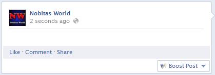 Update blank Facebook Status
