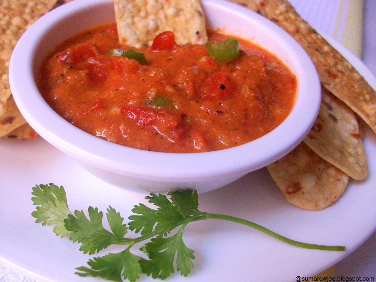 Cakes And More!: Roasted Red Bell Pepper & Garlic Dip
