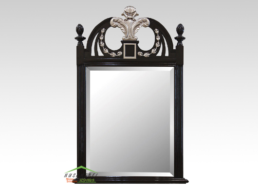 Mahogany Wall Mirror Jerome in Black Finish