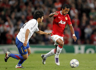 Nani Manchester United Basel UEFA Champions League