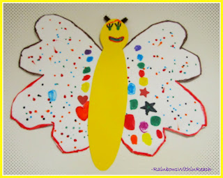 photo of: Preschool Butterfly Art Project with magic markers