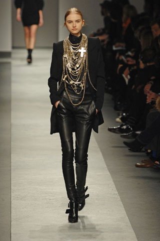 Givenchy Fall 2008 Layered Cross Necklace