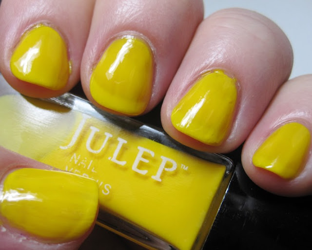 Julep Daisy, bright yellow jelly polish