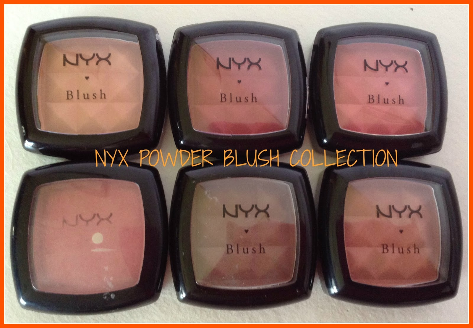NYX Powder Blushes- Collection, Review and Swatches