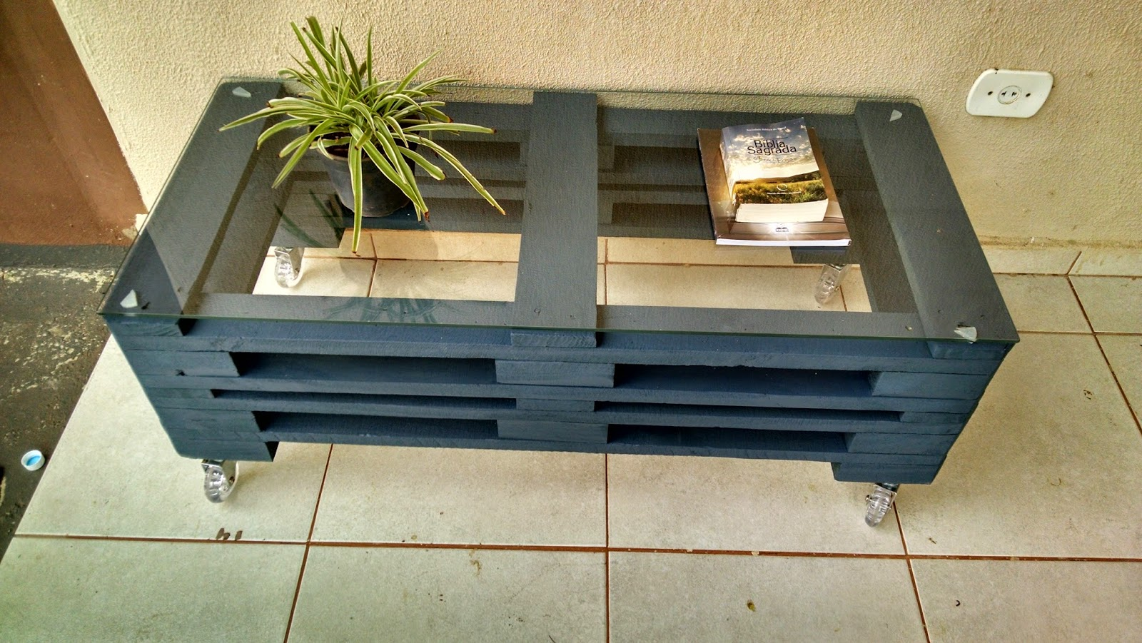 Famosos Casa Paletes - Móveis Rústicos: Mesa / Rack de Paletes DZ12
