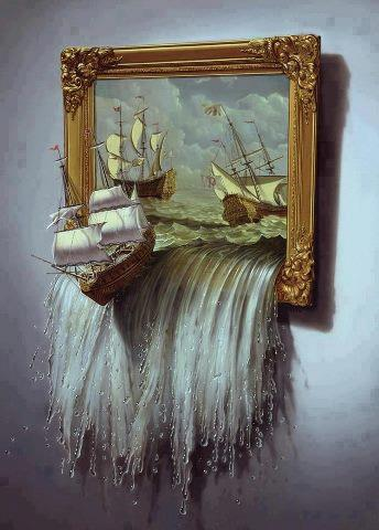 Peinture Trompe Oeil le castel de caroline: peinture trompe oeil !