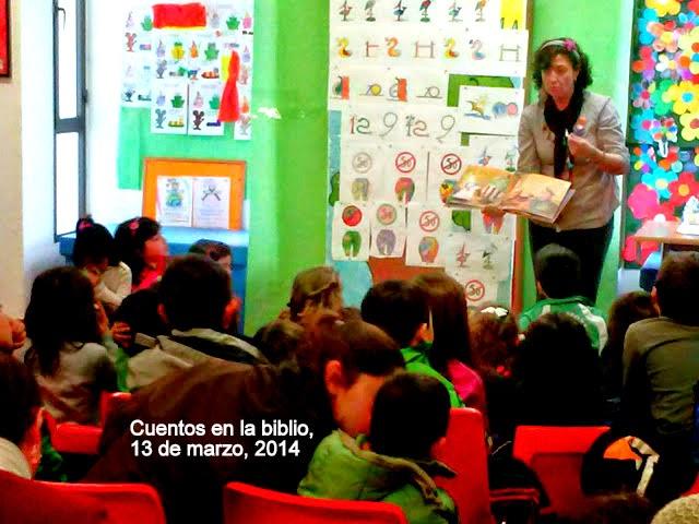 MÁS CUENTOS EN LA BIBLIOTECA 13/03/2014