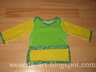baby sweater green-yellow   wesens-art.blogspot.com