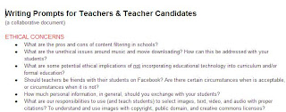 educational blogging, blogging for teachers, blog ideas for teachers, writing prompts of educators