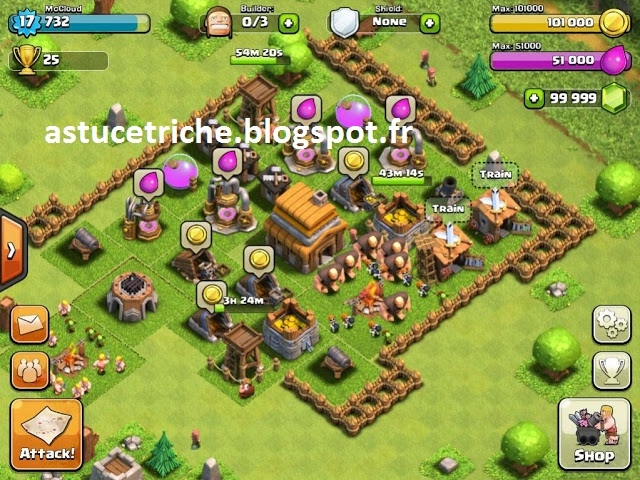 CLASH OF CLANS HACK - CLASH OF CLANS TRICHE – ILLIMITÉ GEMMES
