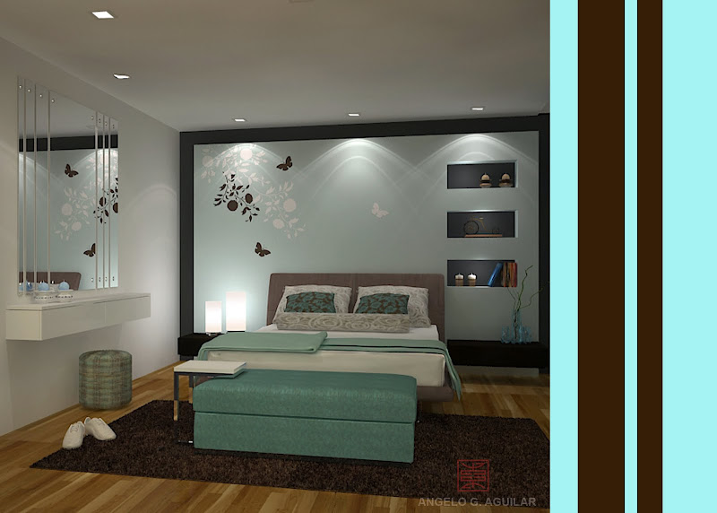 My Turquoise room 3d interior scene.. hope you like it! title=