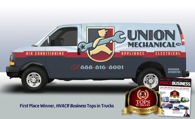 best hvac van wrap example