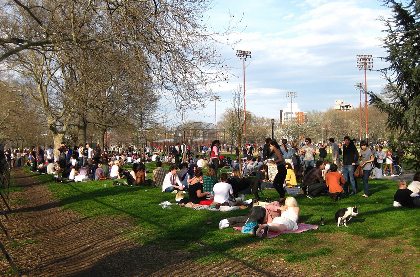 McCarren Park in Williamsburg Brooklyn