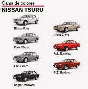 Gama Colores Nissan Tsuru