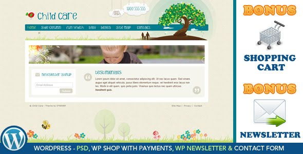 Child Care Creative - WordPress Shop &amp; Newsletter Theme Free Download by ThemeForest.
