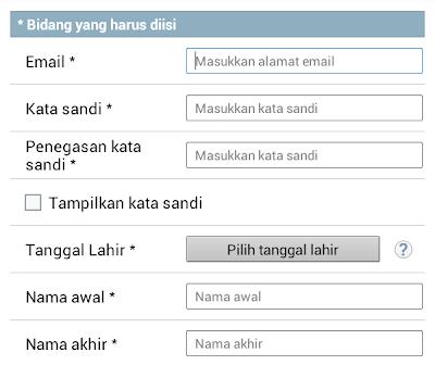 cara mengisi biodata tanpa nama belakang