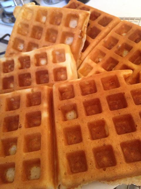 The Gastronomic Mommy: Light & Crisp Belgian Waffles