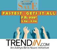 Trendin Happy Hours : Fastest gets it all Flat Rs.999 (2 pm to 6 pm) : Buytoearn
