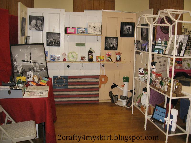 2 crafty 4 my skirt craft fair boutique booth set up