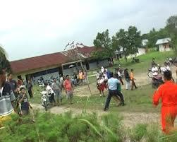 Foto Aksi Kekerasan Oknum TNI AU Terhadap Wartawan