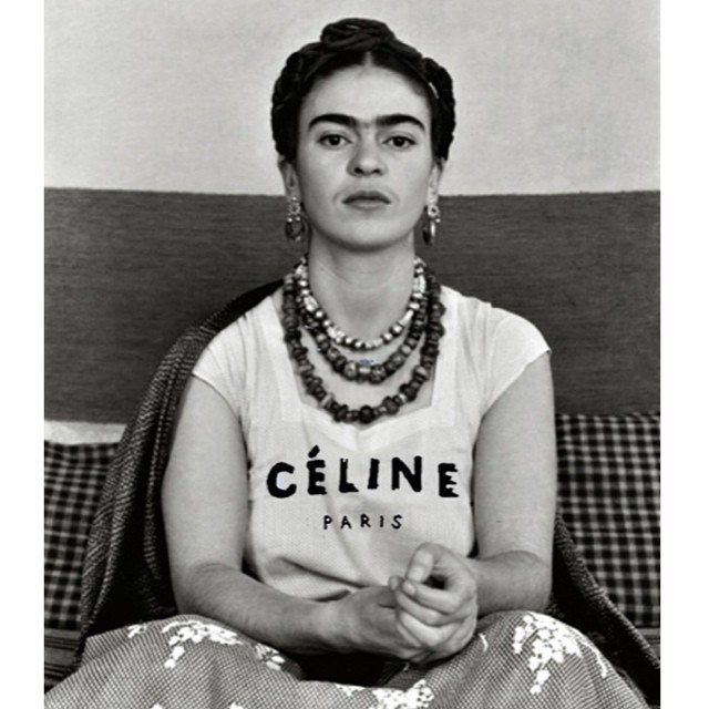 Frida with Celine shirt