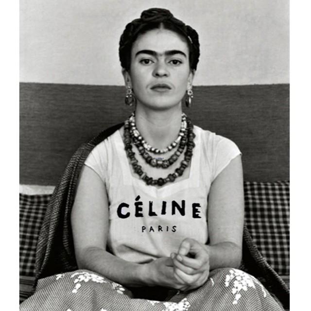 Frida u Céline majici, pop art by Chris Rellas
