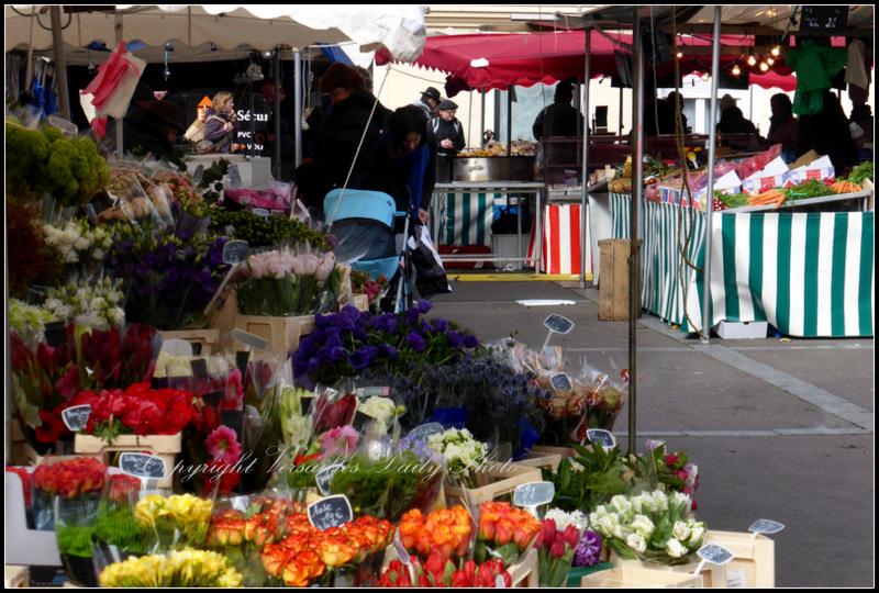 Flowers Porchefontaine market marché Versailles