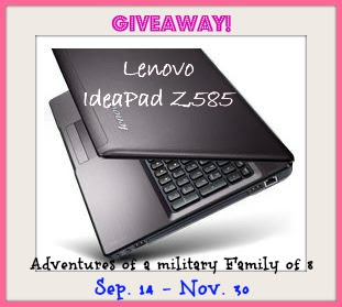 Lenovo IdeaPad Z585 laptop giveaway. sweepstakes