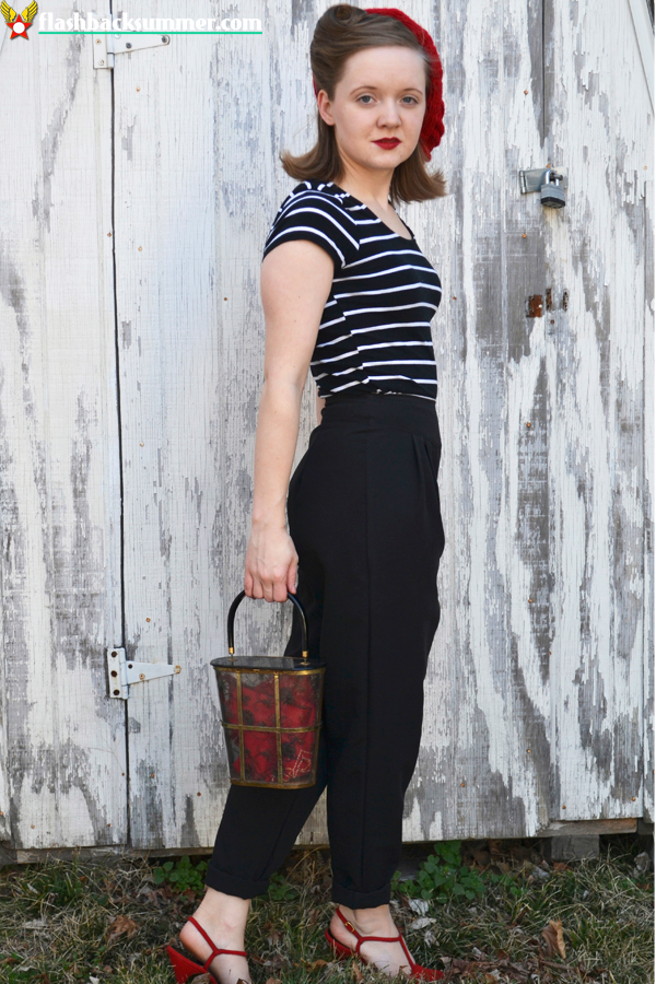 Flashback Summer: Trouser Crisis & Small Steps - modern 1940s 1960s retro fashion look