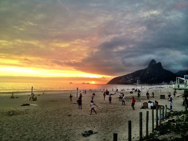 Ipanema Beach sunset