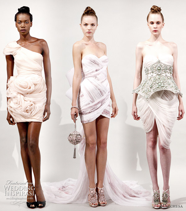 Marchesa Spring Summer 2011 Fantasy Wedding Dresses