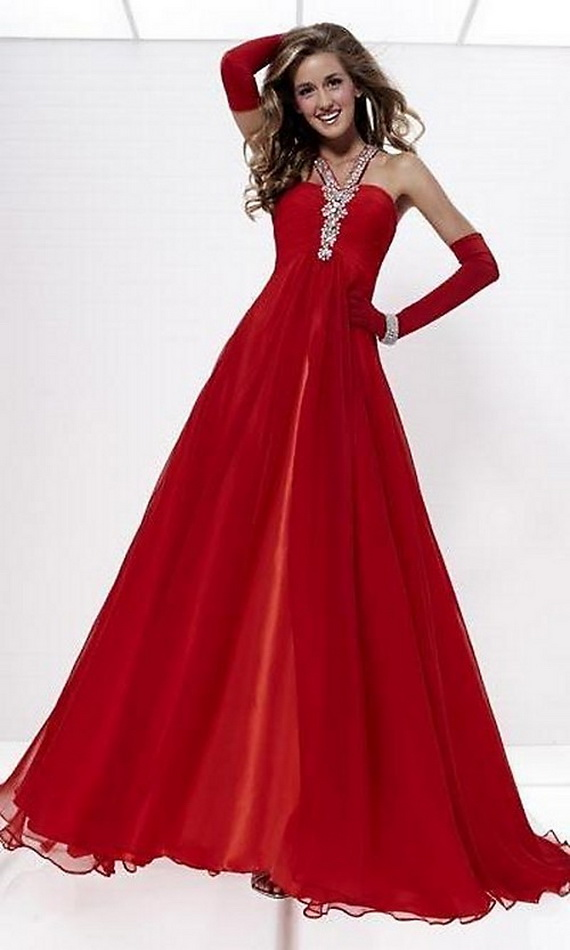 Womens Red Evening Dresses 6