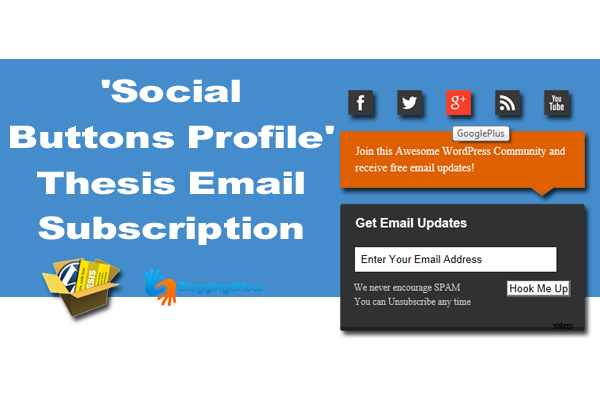 'Social Buttons Profile' Thesis Email Subscription Widget