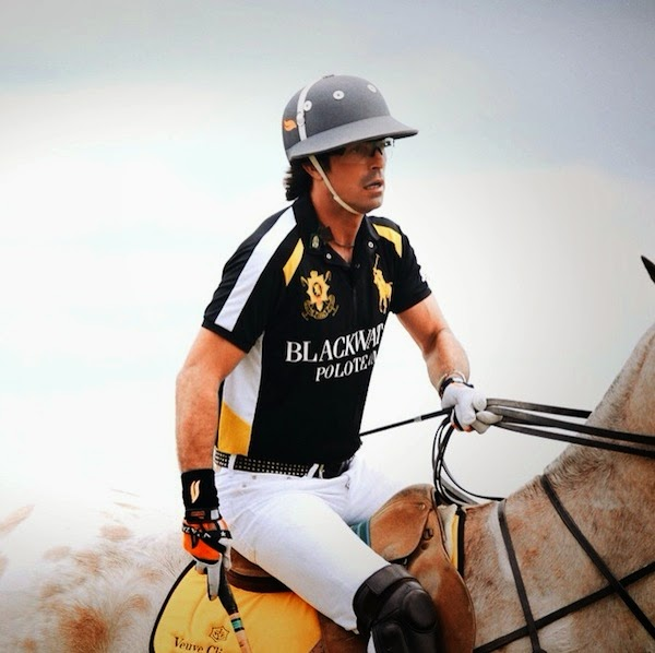 Nacho Figueras Polo Ralph Lauren BLACKWATCH polo shirt at The Seventh Annual Veuve Clicquot Polo Classic 31 May 2014 Liberty State Park Jersey City