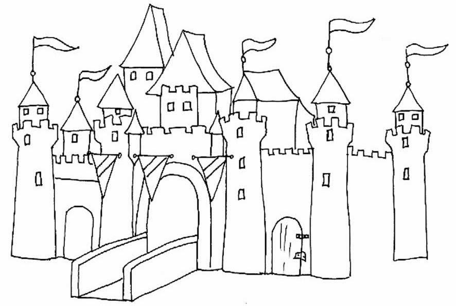 Escuela infantil castillo de blanca fichas preescolar el for Dessiner en 3d gratuit