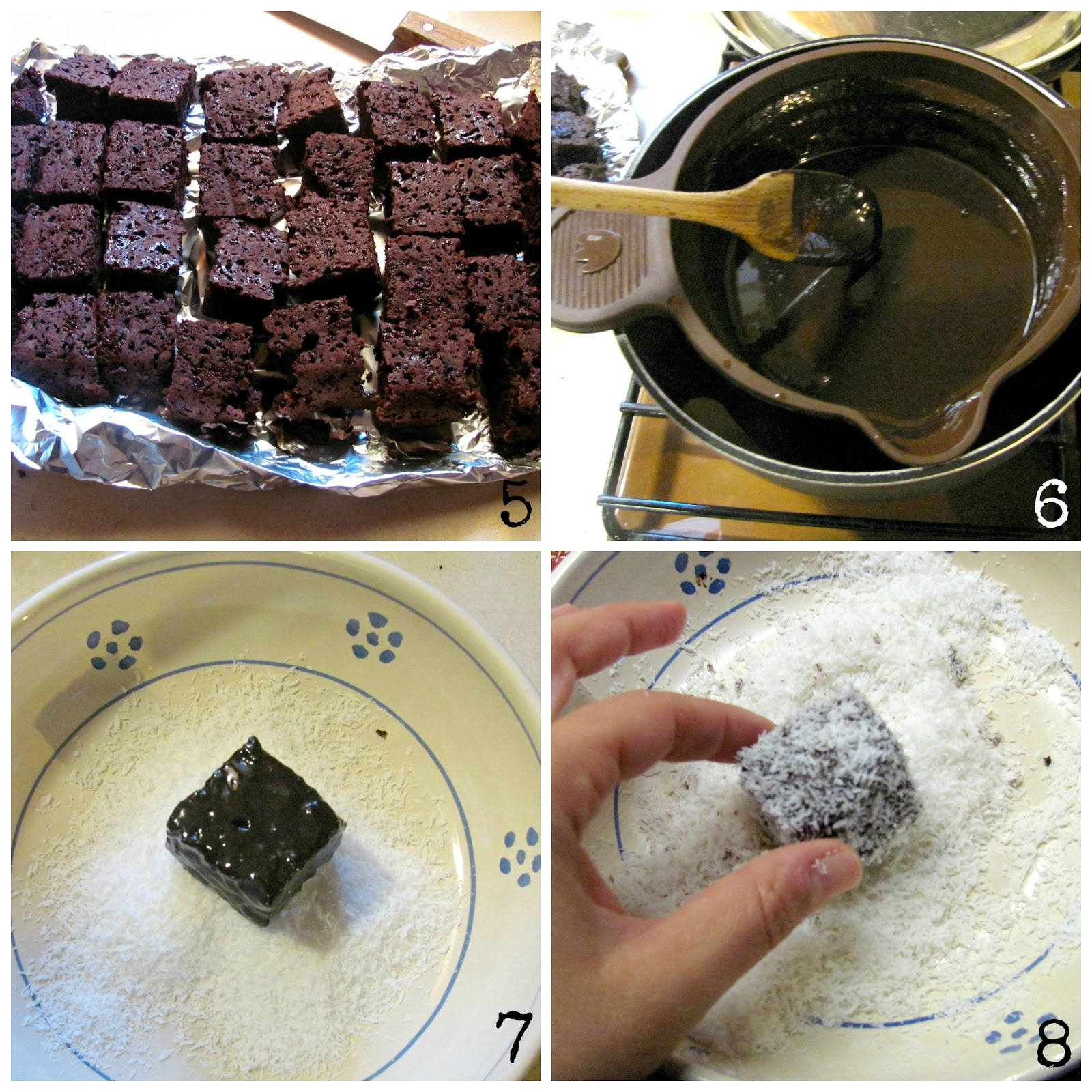 ricetta quadrotti cioccolato e cocco