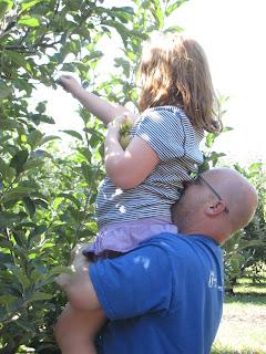 Dad can still lift Mairi!