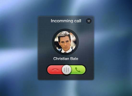 Incomming call PSD