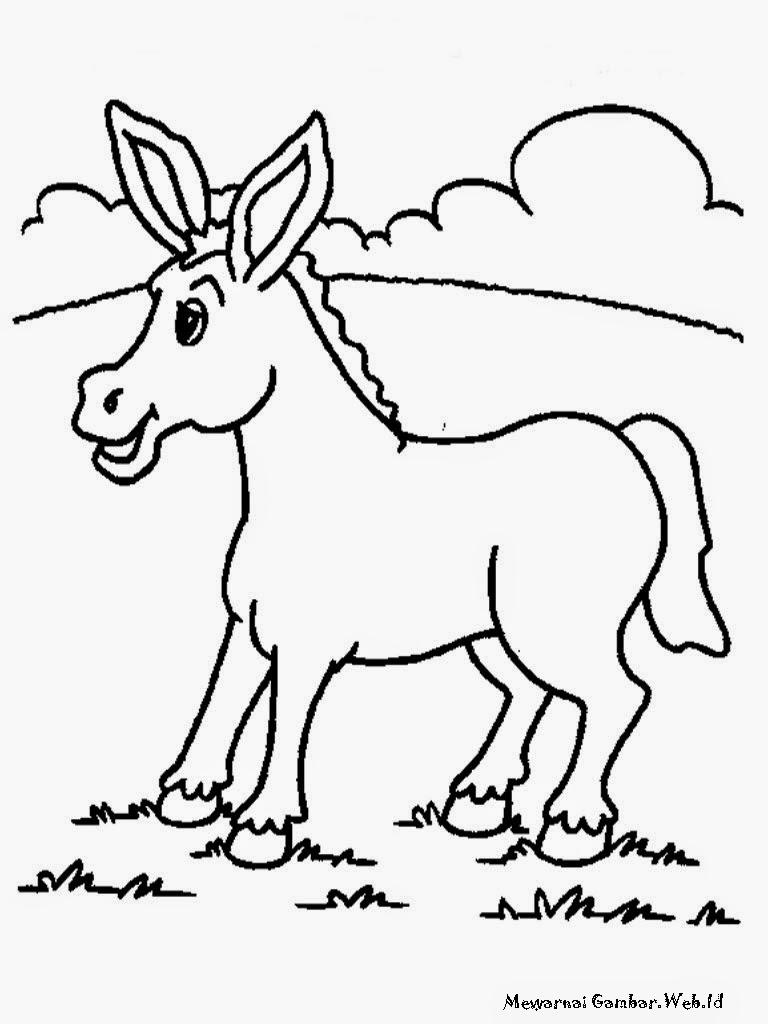 Mewarnai Gambar Anak Keledai