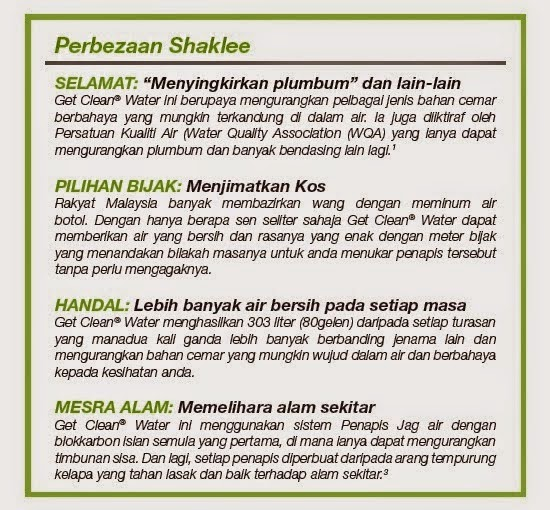 Fakta Penapis Air Shaklee : Get Water Pitcher Shaklee