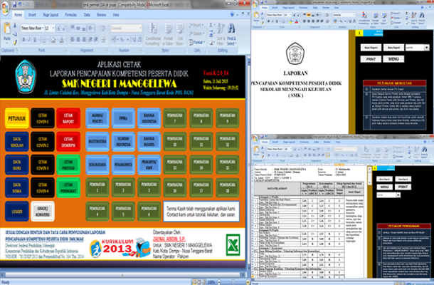 Aplikasi Raport SMK/MAK Kurikulum 2013 dengan Microsoft Excel